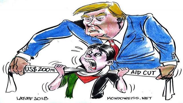 """""""ترمب"""" يُشدّد الخناق على الفلسطينيين من خلال وقف دعم وكالة """"الأونروا"""""""